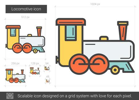 scalable: Locomotive line icon.