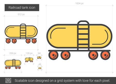 Railroad tank line icon.