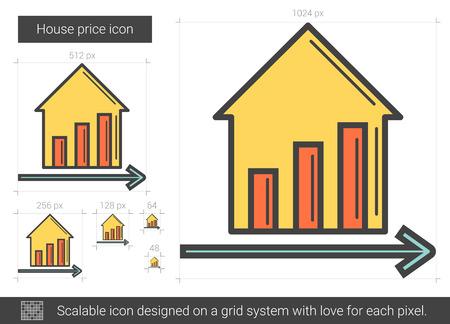 New price line icon.