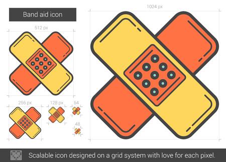 Bandage  line icon.