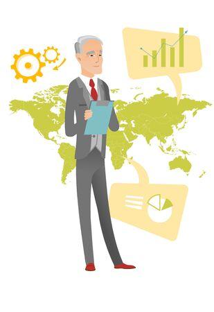 Caucasian businessman working in global business.