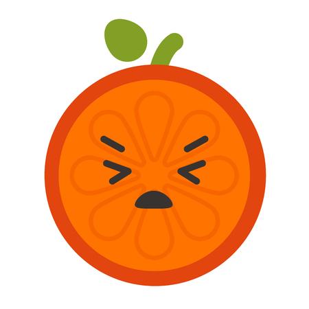Emoji - crying orange. Isolated vector. Illustration