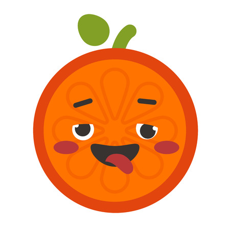 Emoji - crazy orange. Isolated vector. Illustration
