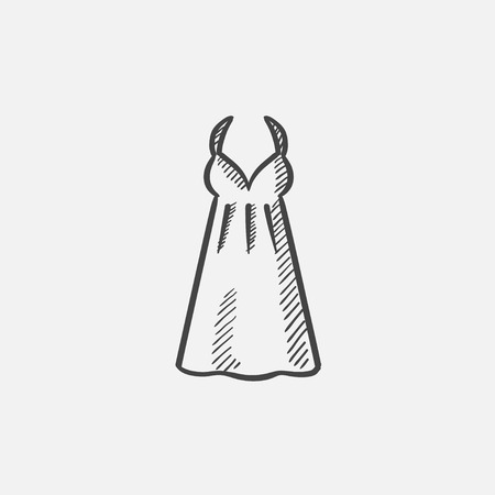 Sarafan sketch icon for web, mobile and infographics. Hand drawn vector isolated icon. Illustration