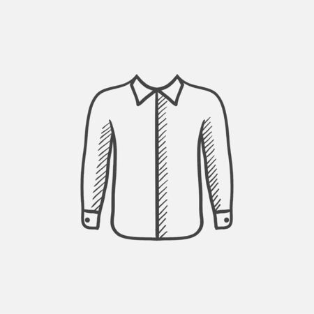 menswear: Shirt sketch icon for web, mobile and infographics. Hand drawn vector isolated icon.
