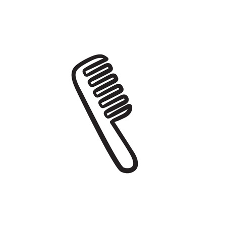 Comb vector sketch icon isolated on background. Hand drawn Comb icon. Comb sketch icon for infographic, website or app.