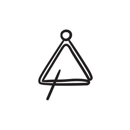 Triangle vector sketch icon isolated on background. Hand drawn Triangle icon. Triangle sketch icon for infographic, website or app. Illustration