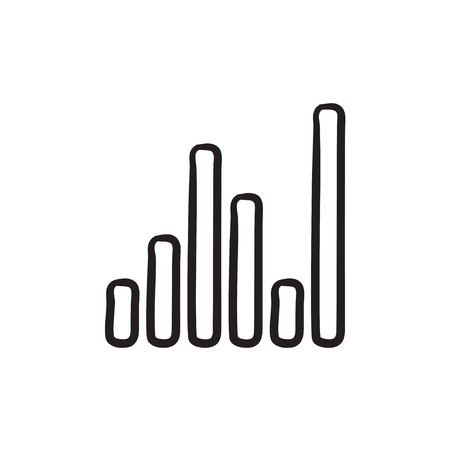 analyzer: Equalizer vector sketch icon isolated on background. Hand drawn Equalizer icon. Equalizer sketch icon for infographic, website or app.