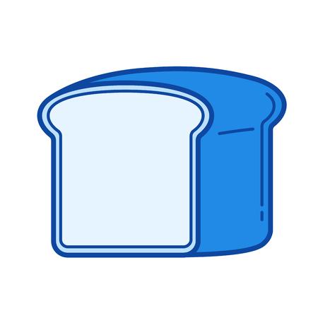 Toast bread vector line isolated icon Çizim