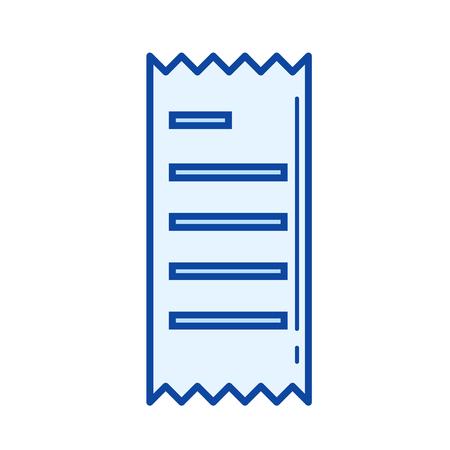 recibo icono de la línea vector aislado en el fondo blanco icono de