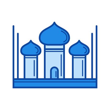 Taj Mahal icon.