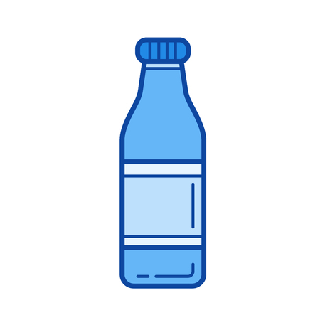 Soft drink vector line icon isolated on white background. Soft drink line icon for infographic, website or app. Blue icon designed on a grid system. Illustration