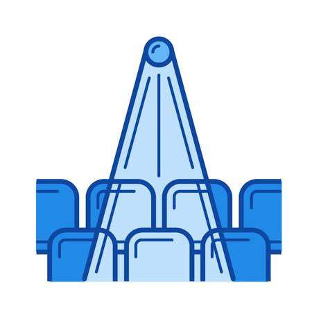 Cinema hall vector line icon