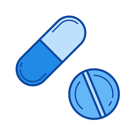Medication vector line icon isolated 向量圖像
