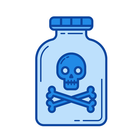 toxic substance: Drug vector line icon isolated