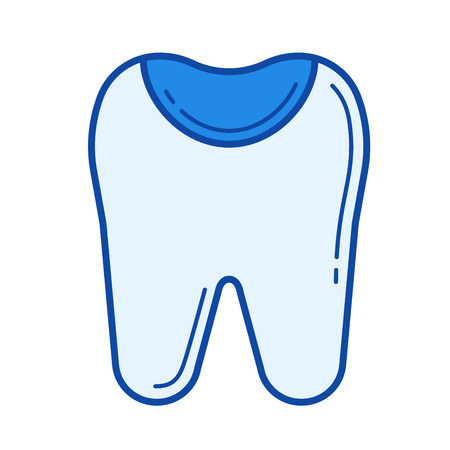 Tooth enamel vector line icon isolated Illustration