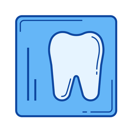 Dental x-ray vector line icon isolated