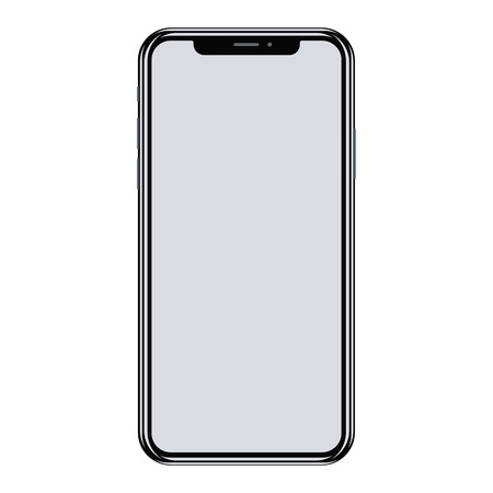 Smartphone isolated on white background. Realistic vector illustration.  イラスト・ベクター素材