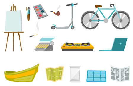Recreation elements illustration sets.
