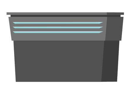 Vide table de café ou de comptoir illustration vectorielle de dessin animé isolé sur fond blanc Banque d'images - 88349601