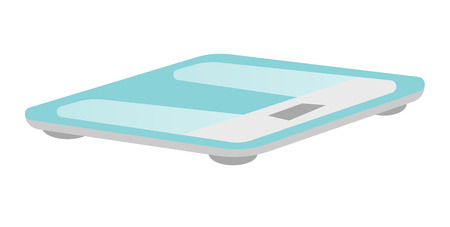 Bathroom weight scale vector cartoon illustration isolated on white background. Banco de Imagens - 88349605