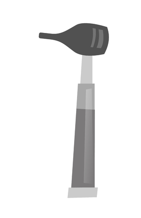 Otoscope - tool used by ENT doctor for ear examination. Medical tool. Vector cartoon illustration isolated on white background. Illustration