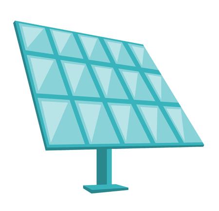 Solar panel for alternative energy generation. Vector cartoon illustration isolated on white background. 向量圖像