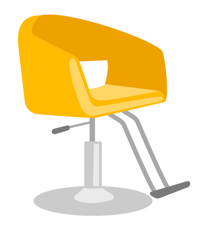 革調節可能な椅子ベクトル漫画イラスト白い背景で隔離の理髪師します。