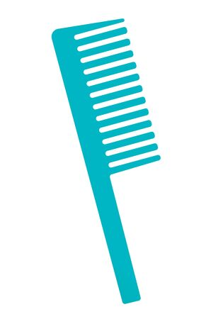 Comb for hair vector cartoon illustration isolated on white background.