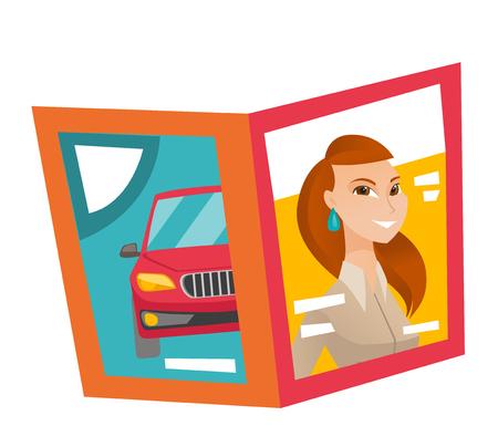 Fashion magazine vector cartoon illustration isolated on white background. Иллюстрация
