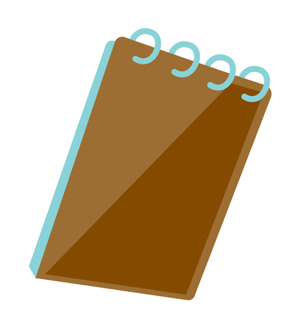 Notepad with ring binder vector cartoon illustration isolated on white background. Illustration