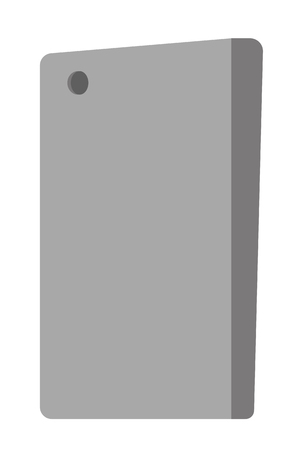 Back view of black modern smartphone with camera vector cartoon illustration isolated on white background.