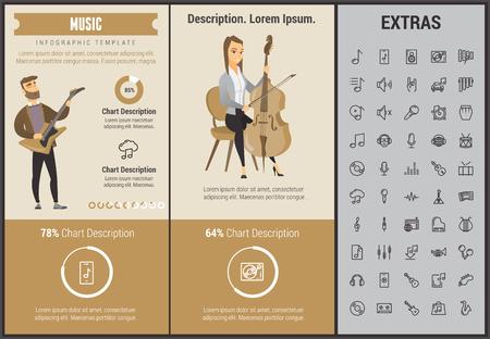 Music infographic template. Ilustração