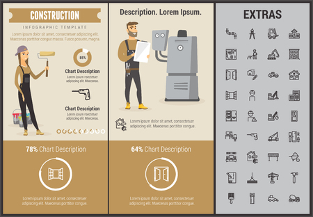 Construction infographic template. Ilustracja