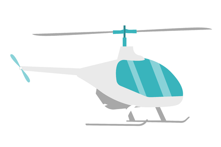 Helicopter vector cartoon illustration isolated on white background.