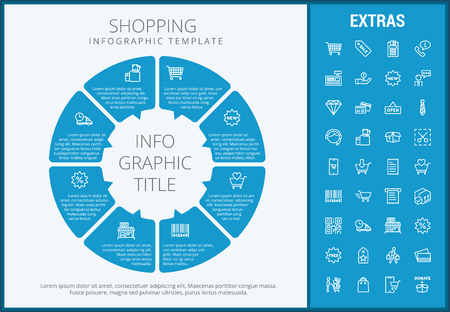 Shopping Infographic Template Elements And Icons Infograph