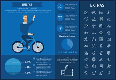 Lifestyle info graphic template, elements and icons