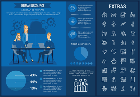 Human resource info graphic template