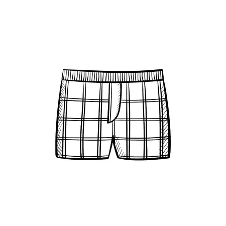 Vector hand drawn underpants outline doodle icon. Underpants sketch illustration for print, web, mobile and infographics isolated on white background. Stock Illustratie