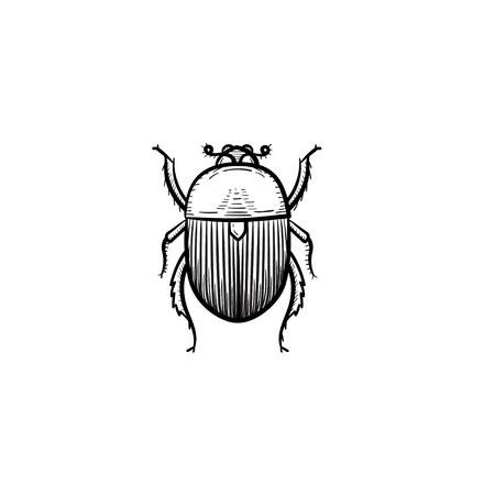 A Vector hand drawn colorado potato beetle outline doodle icon.
