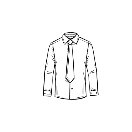 A Vector hand drawn business shirt outline doodle icon. Attire sketch illustration for print, web, mobile and infographics isolated on white background.