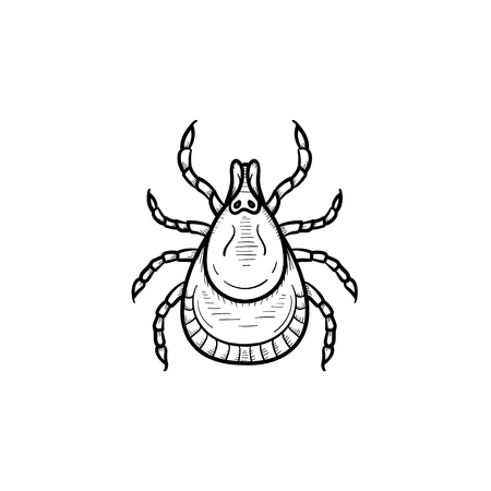 A Vector hand drawn mite outline doodle icon. Mite sketch illustration for print, web, mobile and infographics isolated on white background. Illustration
