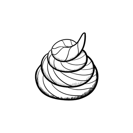 Vector hand drawn shit outline doodle icon. Shit sketch illustration for print, web, mobile and infographics isolated on white background.