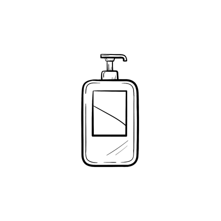 Vector hand drawn Shampoo outline doodle icon. Shampoo sketch illustration for print, web, mobile and infographics isolated on white background.