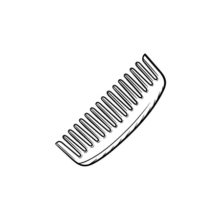 Vector hand drawn Comb outline doodle icon. Comb sketch illustration for print, web, mobile and infographics isolated on white background.