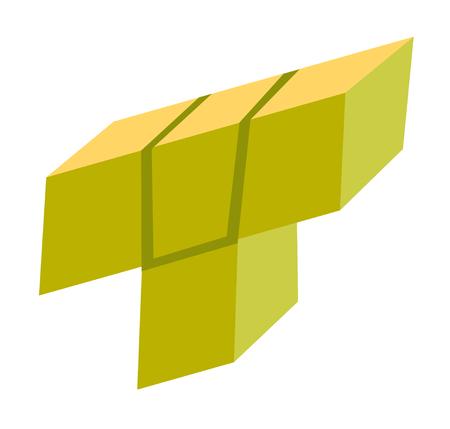 Block of brick game vector cartoon illustration isolated on white background.