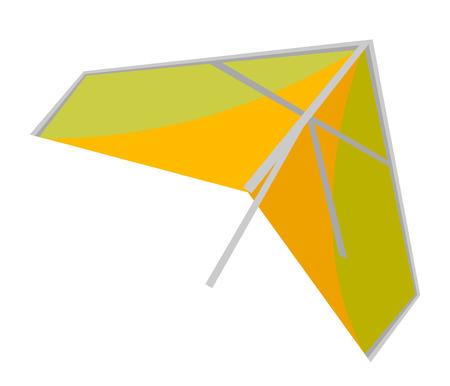 Illustration de dessin animé de vecteur de deltaplane isolé sur fond blanc. Banque d'images - 94844148