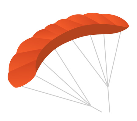 Paraglider vector cartoon illustration isolated on white background. Illustration