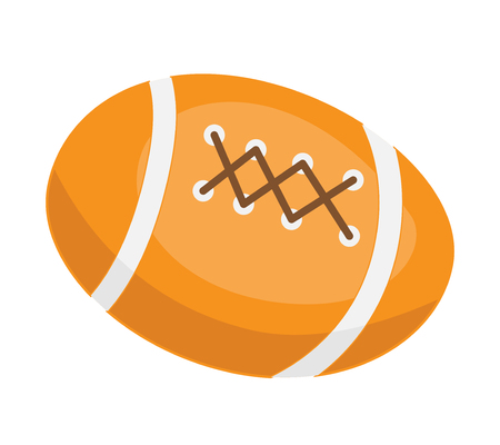 American football ball vector cartoon illustration isolated on white background.