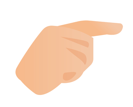 Human hand with an index finger pointing